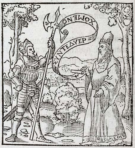 Pictura of Alciato, Andrea: Livret des emblemes (1536): Unum nihil, duos plurimum posse. Ung nest rien, deux est beaucop.