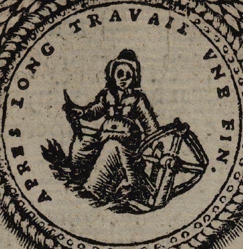 Pictura of Scève, Maurice: Délie (1544): APRES LONG TRAVAIL UNE FIN.