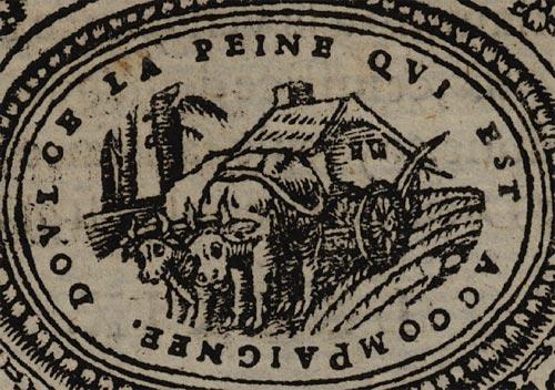 Pictura of Scève, Maurice: Délie (1544): DOULCE LA PEINE QUI EST ACCOMPAIGNEE.