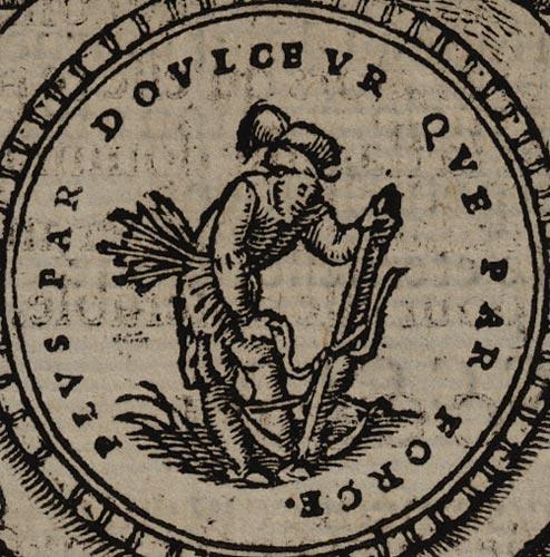 Pictura of Scève, Maurice: Délie (1544): PLUS PAR DOULCEUR QUE PAR FORCE.