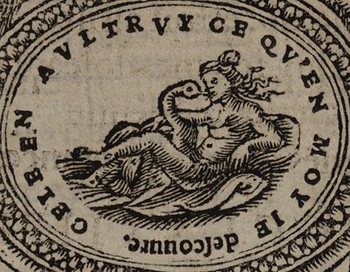Pictura of Scève, Maurice: Délie (1544): CELE EN AULTRUY CE QU'EN MOY JE descouvre.