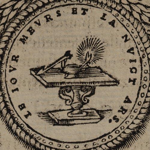 Pictura of Scève, Maurice: Délie (1544): LE JOUR MEURS ET LA NUICT ARS.